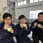 今朝は東京都心で氷点下4℃と、48年ぶりの寒さを記録しましたが、島田電機にはスープがついていますから大丈夫!イライラ解消に一役かってくれるビタミンB12や葉酸などを多く含む海苔たっぷりの『ささみと野菜の海苔スープ』を頂きました♪ 2018年1月
